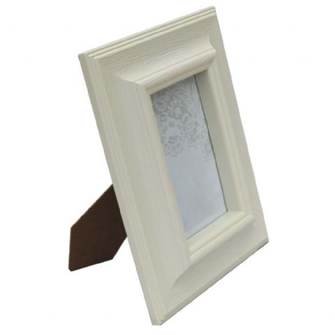 Chunky Cream Painted 4 x 6 Photo Frame H 24 x W 19cm